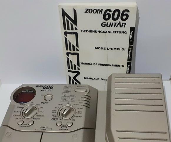 Pedaleira Zoom 606 guitar