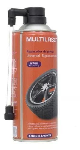 Reparador Instantaneo Furo Pneus Carro Moto Multilaser