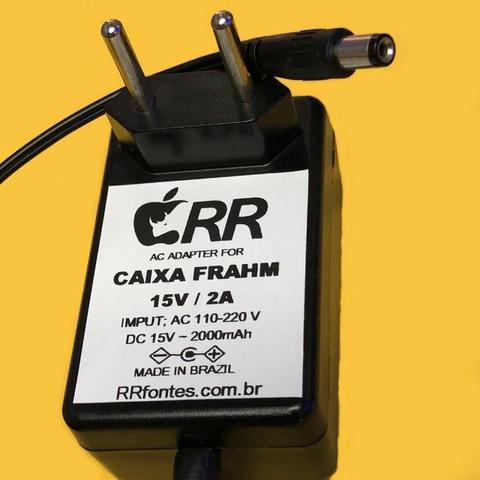 Fonte Carregador 15v Caixa De Som Amplificada Frahm Cl 200