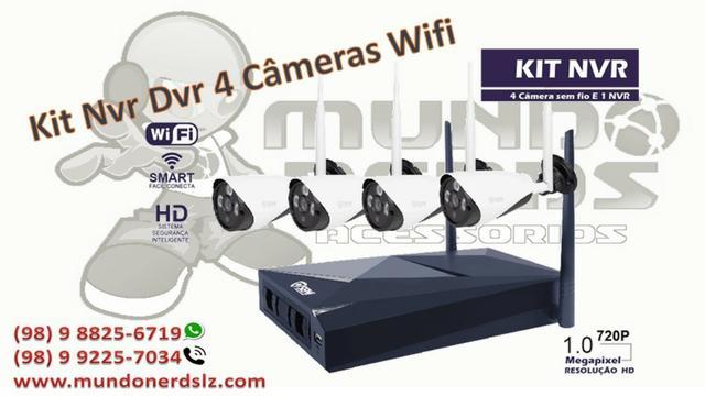 Kit Nvr Dvr 4 Câmeras Wifi p Hd Semi em são luis ma
