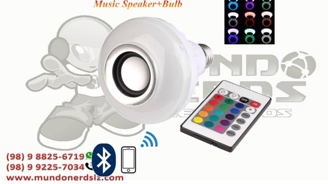Lampada Musical De Led Bluetooth Rgb + Controle Remoto em