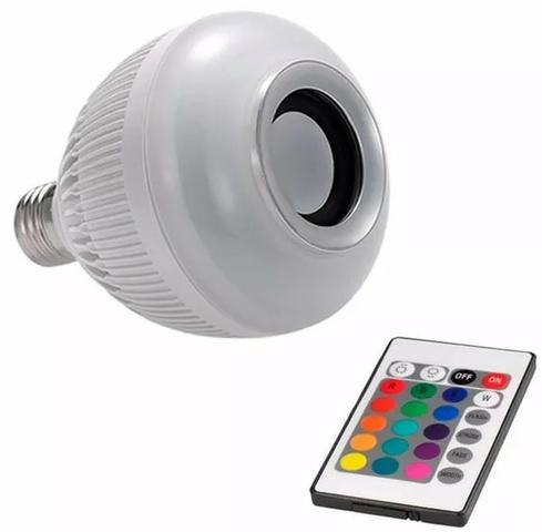 Lampada Musical De Led Bulbo Bluetooth Rgb + Controle Remoto