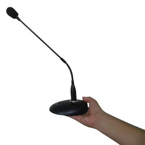 Microfone Profissional com Base de Mesa Flexivel Palestra