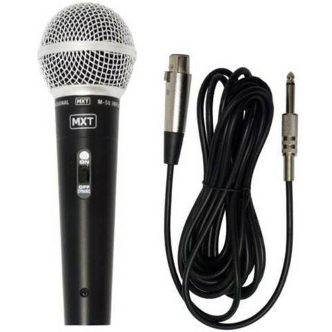 Microfone Profissional com Fio Dinâmico Alta Fidelidade