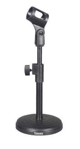 Pedestal Suporte Microfone Mesa Studio Youtube Rádio Tripé