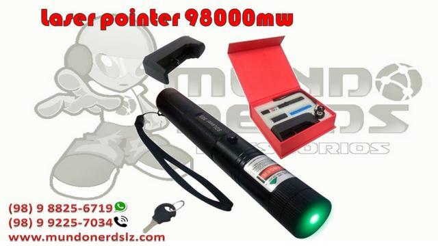 Super Caneta Laser Pointer Verde mw Ultra Forte em são