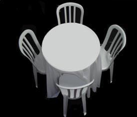 Diferença locações - aluga mesas e cadeiras etc