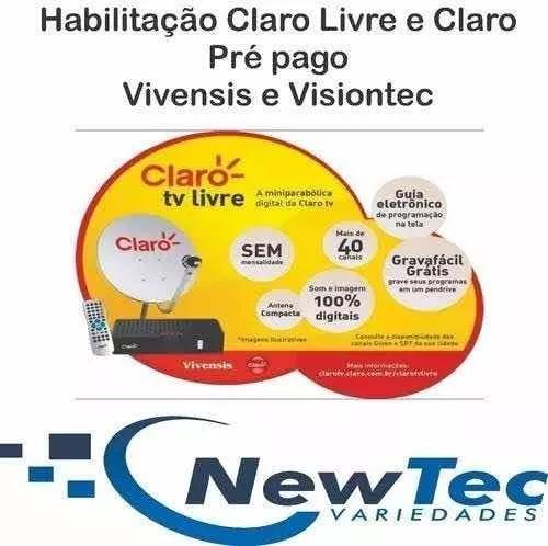 Habilitação Claro Livre Pre Pago Vivensis Visiontec