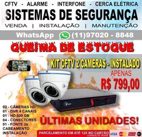 Kit De Câmeras De Segurança Cftv (instalado E Configurado)