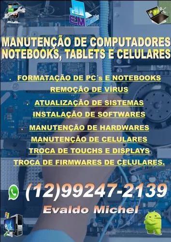 Manutenção De Computadores, Notebooks, Tablets E