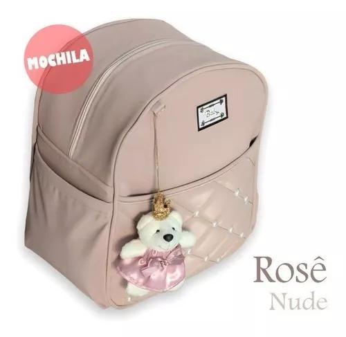 Mochila Infantil Kids Bebe Criança Rose Azul Rosa -