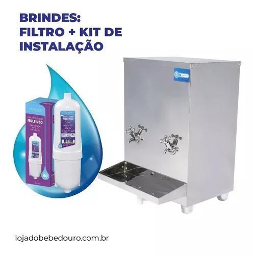 Bebedouro Industrial Bancada 20 Litros Kit Instalação
