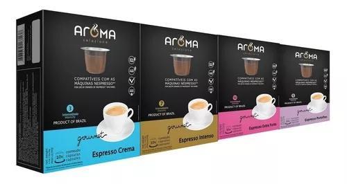 Kit 120 Cápsulas Para Nespresso Cápsula Café Aroma