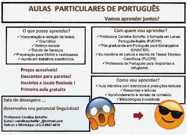 Aulas de português para nativos e estrangeiros