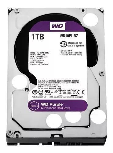 Hd Wd 1tb Purple Surveillance Sata Iii P/ Hvr E Dvr 24/7