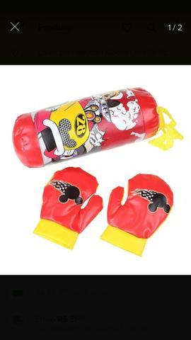 Kit boxe infantil mickey saco e luvas zap.
