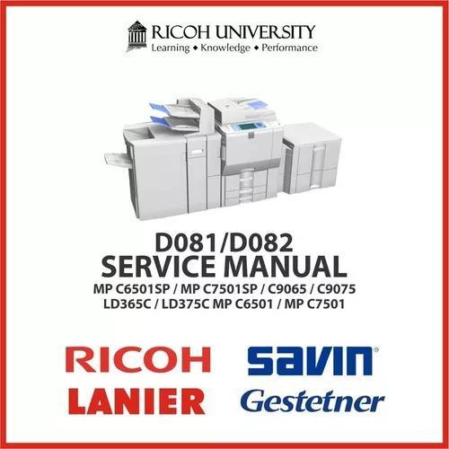 Manual De Serviço Xerox Ricoh Savin Lanier Modelos D081/082