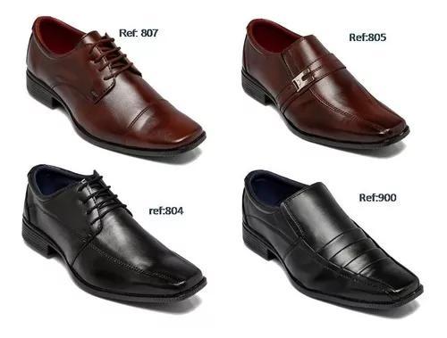 Kit Com 4 Pares De Sapatos Sociais Top