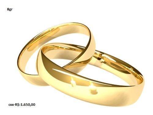 Alianças de ouro para casamentos e noivados em até 12x no