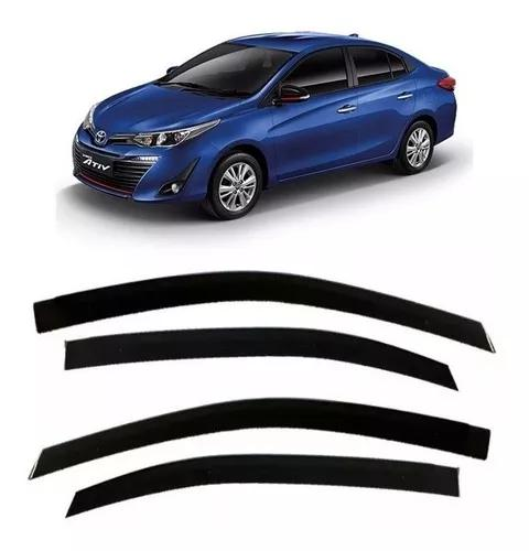 Calha Chuva Toyota Yaris Sedan 2018 2019 Fume 04 Pçs