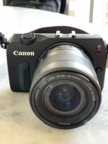 Canon Eos M Lente Ef-m 18-55mm Com Capa De Couro