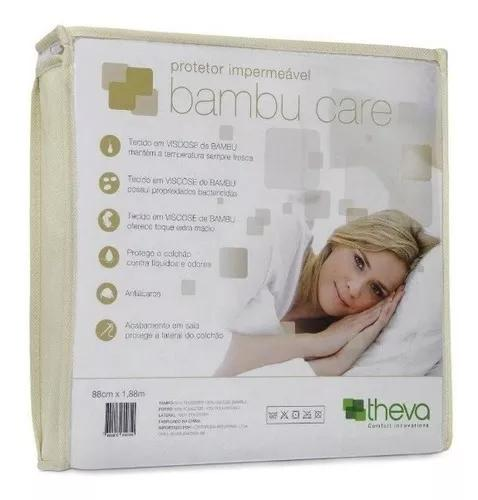 Capa Impermeável Colchão Queen Bambu Care 198x158x40 Theva