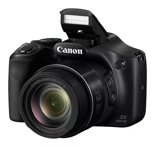 Câmera Canon Powershot Sx530 Hs Tela 3.0 De 16mp Com Wi-fi/
