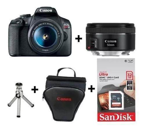 Câmera Canon T7 C/ 18-55 + 50mm 1.8 Stm