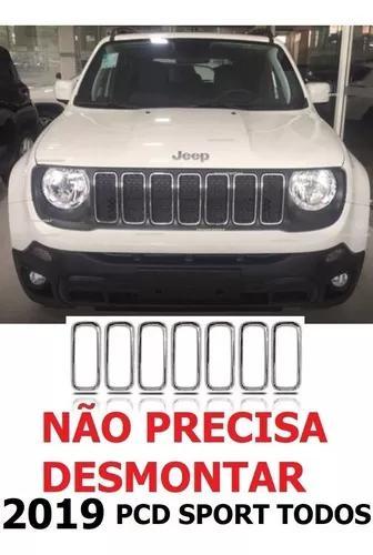 Friso Cromado Moldura 2019 Grade Arcos Jeep Renegade Pcd Lon