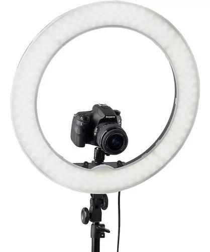 Iluminador Led Ring Light 18 Circular Foto Make C Tripé