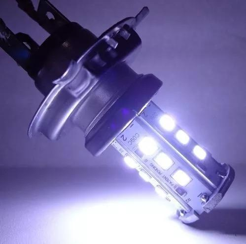 Lampada H4 Forte Super Led Moto Carro Branca 8000k Xenon