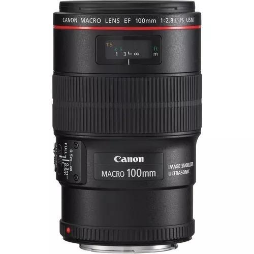 Lente Canon Ef 100mm F/2.8l Macro Is Usm Brasil 12x S/juros