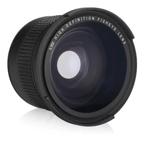 Lente Fisheye Olho De Peixe Macro Rosca 58mm P/ Canon 18-55