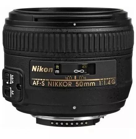 Lente Nikon 50mm F/1.4g Af-s Autofoco Parasol Pronta-entrega
