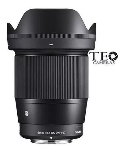 Lente Sigma 16mm F/1.4 Dc Dn Sony E-mount Aps-c