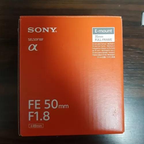 Lente Sony Fe 50mm F/1.8 - Sel50f18f Produto Novo P Entrega.