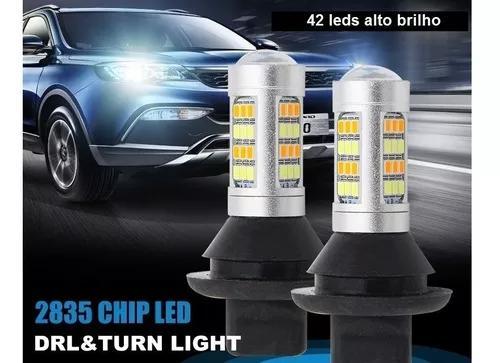 Lâmpada Led Drl Lanterna Seta Laranja Ba15s 1156 P21w 1