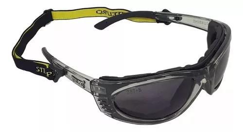 Oculos Vicsa Steelpro Turbine Lente Escura Cinza
