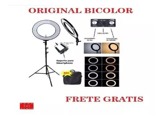 Ring Light 18`para Maquiadores Bicolor C/tripe 2 Mt 448 Leds