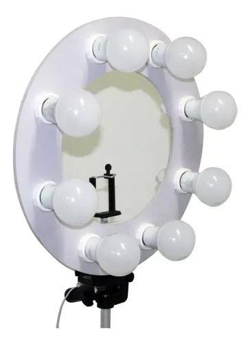 Ring Light 8 Led + Tripé + Adaptador Celular Promocão
