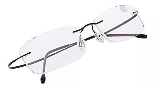 Armação Oculos Grau Feita De Titanium Preto S