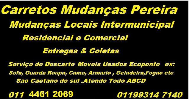 Carretos em Santo Andre p/ litoral-interior ABC