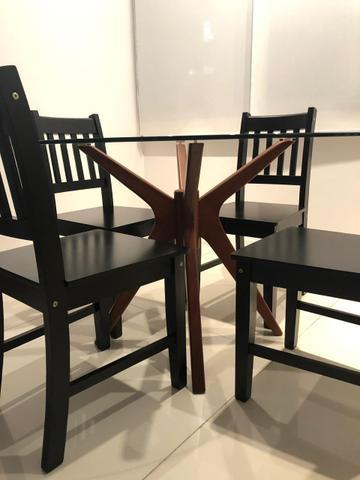 Conjunto 4 cadeiras madeira