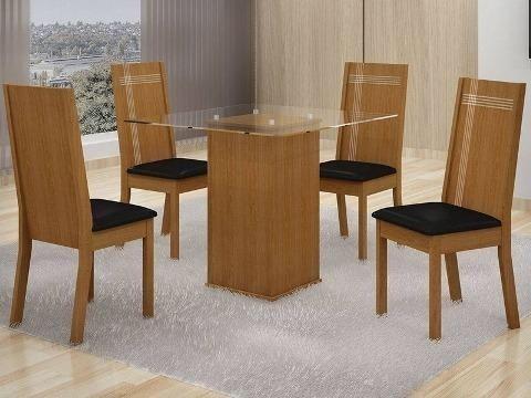 Conjunto de Mesa Havana com 4 cadeiras- conforto