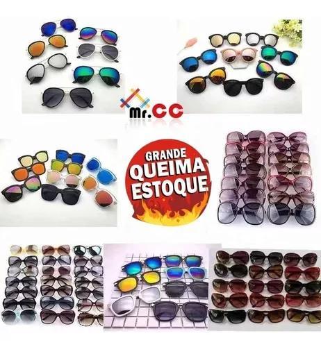 Kit 20 Óculos De Sol Adulto Proteção Uv Para