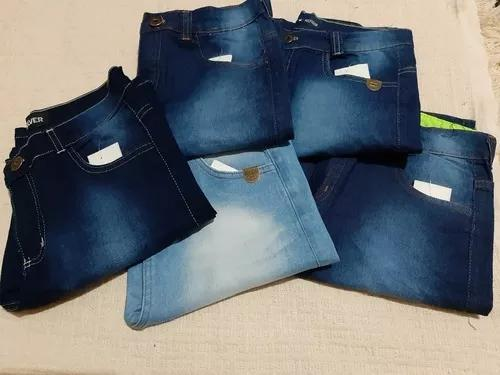 Kit 5 Bermuda Jeans Infantil Masculina Criança Menino