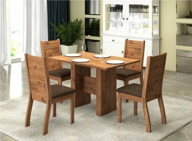 Mesa de Jantar com 4 cadeiras 1,20 - Garantia peça agora