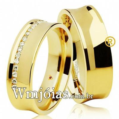 Alianças de casamento e noivado WM2625
