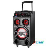 CAIXA DE SOM 100W LENOXX Bluetooth USB MP3 P2 P10