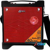 CAIXA DE SOM LENOXX 40W USB SD FM MP3 - RED